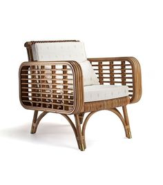Cap Martin ll India Mahdavi This chair is modelled after a version and has some great rattan detailing. Rattan is a group of vine-… Cane Furniture, Rattan Furniture, Rattan Armchair, Rattan Chairs, Chair Design, Furniture Design, Cap Martin, Console Design, French Interior Design