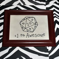 D20 embroidery - I could do this.