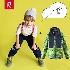 DRESS FOR THE WEATHER +12°, partly cloudy, light wind.  Choose a moisture transporting base layer and water-repellent pants. Complement with comfy waterproof sneakers and a warm fleece. Accessorize with a beanie with windproof earpieces and a scarf… and you're all set for spring adventures! #reima #spring #weather #layerdressing #outdoors #kids #kidswear