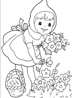 Here are the Perfect Little Red Riding Hood Pictures For Kids Colouring Pages. This post about Perfect Little Red Riding Hood Pictures . Coloring Pages For Girls, Flower Coloring Pages, Cartoon Coloring Pages, Coloring For Kids, Free Printable Coloring Pages, Free Coloring Pages, Coloring Sheets, Coloring Books, Red Riding Hood Party
