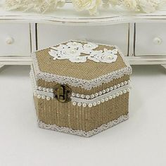 Rustic Wedding Ring Box, Wedding Ring Box, Rustic Ring Box, Ring Box Wedding, Ring Bearer Box, Wooden Ring Box, Burlap Ring Box, Bridal Gift