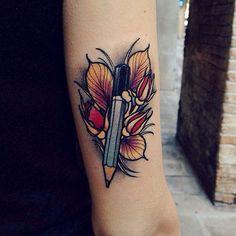 #tattoo by @brandochiesa  #tattoos #tattooart #neotrad #neotraditional #colortattoo