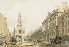 The Strand with Somerset House and St Mary's Church by Thomas Malton Jnr, circa 1796 (Artfinder)