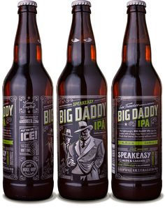 Speakeasy Ales & Lagers Big Daddy IPA 22oz. - designed by Emrich Office