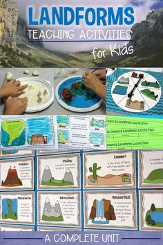 Are you looking for a different type of landforms activities? This landform building, narrative writing, map making unit includes minilessons, printables, literacy centers, 18 landforms reference charts, lesson plans,  assessment and bulletin board display.