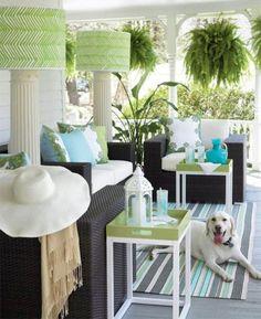 Eddie Ross porch in Southern Living Estilo Tropical, Tropical Style, Coastal Style, Outdoor Rooms, Outdoor Living, Outdoor Furniture Sets, Furniture Ideas, Interior Exterior, Interior Design