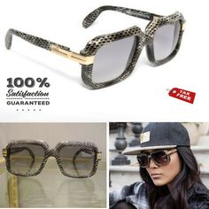 b43edaa2b0a Cazal 607 Gray Python Leather Col. 602 Limited Edition Sunglasses  Cazal   Square
