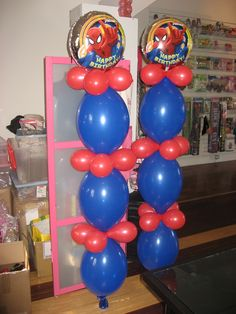 1000 images about spiderman on pinterest balloons kids for Balloon decoration color combinations