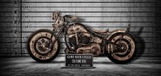 The Recidivist is a modded Harley Davidson Softail adorned with tattooed leather on its tires, tanks, seat, rear fender and more. Polish tattoo artists Tomasz Lech and Krzysztof Krolak spent a total of 250 hours inking the bike.