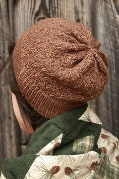 Sweet William by Alicia Plummer - knit hat with smocked stitches