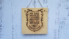 Perfect sign for the perfect dad! Silhouette Machine, Silhouette Cameo, Wood Veneer Sheets, Roller Bar, Wood Burn Designs, Silhouette School Blog, All Silhouettes, We R Memory Keepers, Pen Holders