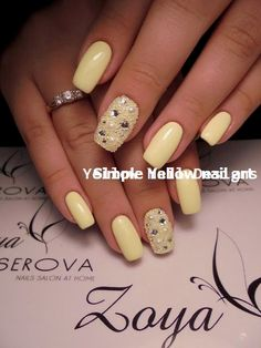 23 Great Yellow Nail Art Designs 2019 23 große gelbe Nail Art Designs 2019 The post 23 große gelbe Nail Art Designs 2019 & Yellow Nails appeared first on Nails . Spring Nail Art, Nail Designs Spring, Spring Nails, Summer Nails, Nail Art Designs, Yellow Nails Design, Yellow Nail Art, Purple Nail, Gold Nail