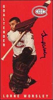 "gump worsley hockey cards   Lorne ""Gump"" Worsley Hockey Cards, Football Cards, Baseball Cards, Hockey Goalie, Ice Hockey, Montreal Canadiens, Hockey Highlights, Stars Hockey, Canadian History"