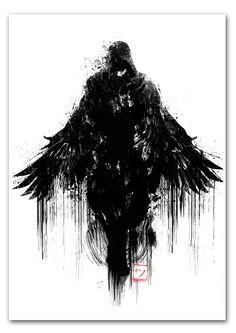 The Assassin Art Print Assassins Creed Dark Art Tattoo, Assassins Creed Art, Raven Art, Arte Obscura, Knight Art, Dark Photography, Dark Fantasy Art, White Art, Character Art