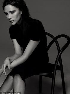 Fashion doyenne: Victoria Beckham wearing Victoria Beckham pre-SS14 rtw collection