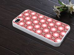 iphone 4 case iphone 4s case iphone 4 cover classic illustrator pink flower graphic design printing. $13.99, via Etsy.