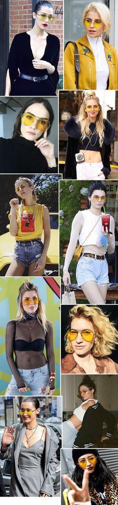Óculos Amarelo: A tendência controversa ... - FashionBreak