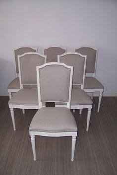 chaises de style louis xvi couleur lin