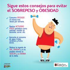 Sigue estos consejos para evitar el sobrepeso y obesidad