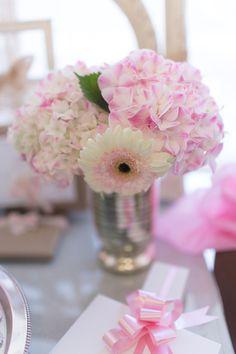 Vintage Shabby Chic Tea Baby Shower flowers