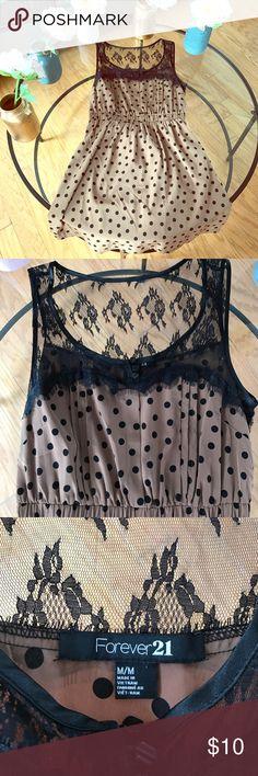 Forever 21 Polkadot Dress Tie back • minor pilling on the back right side Forever 21 Dresses
