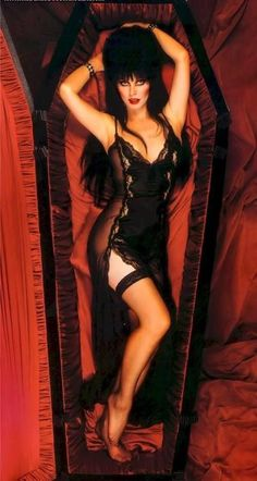 """Elvira- """"Always remember me by two simple words... Any two, as long as they're simple""""."""