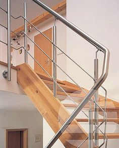 Stainless Steel Railings — Buy Stainless Steel Railings, Price , Photo Stainless Steel Railings, from Mitesh Metal, Company. Staircase Handrail, Stair Railing Design, Stairs, Railings, Deck Finishes, Metal Handrails, Stainless Steel Railing, Welding And Fabrication, Home Interior Design