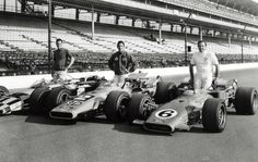 Indy 500, 1969: A great way to win a bar bet. Ask a racing buff who is pictured in this photo of the 1969 front-row cars. The guy in the middle is Mario Andetti's twin, Aldo, who posed after Mario burned his face in an accident. (Now think about how that Granatelli kiss felt in Victory Lane). Bobby Unser, left, and A.J. Foyt on the right.
