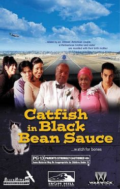 "Catfish in Black Bean Sauce (2000)      tagline: ""...raised by an African American couple, a Vietnamese brother and sister are reunited with their birth mother ...watch for bones"""