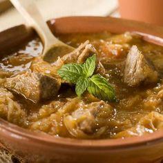 Ragoût de porc au chou et aux poireaux