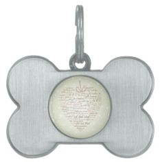 Words of Love Heart Designer Art Pet Tag Exquisitely gorgeous, you will LOVE our Stunning Words of Love Heart Whimsical Designer Art Collection. Give the perfect gift or especially for you! To view our entire Words of Love Heart Whimsical Designer Art Collection please visit us at: zazzle.com/innocentoriginals