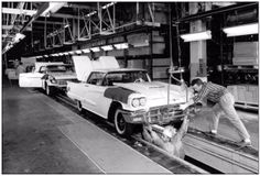 Ford Thunderbird assembly line (1957)