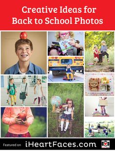 Creative Ideas for Back To School Pictures #photography #iheartfaces #school #picture #ideas
