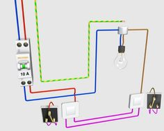 Electrical wiring is an electrical installation of cabling and associated devices such as switches, distribution boards, sockets, and light fittings in a Home Electrical Wiring, Electrical Layout, Electrical Plan, Electrical Installation, Electrical Projects, Electrical Engineering, Electronics Projects, Distribution Board, House Wiring