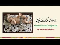 Mantita y almohada en crochet para el Niño Jesús (Parte 1) - YouTube