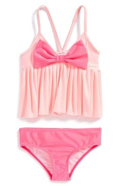 Love U Lots Two-Piece Swimsuit (Toddler Girls & Little Girls) available at #Nordstrom