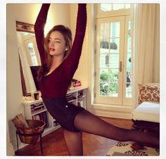 Miranda Kerr. Ballet workout.