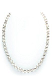 14K Gold 7-8mm White Freshwater Pearl Necklace - AAAA Quality, 18 Inch Princess Length  http://electmejewellery.com/jewelry/necklaces/pearl-strands/14k-gold-78mm-white-freshwater-pearl-necklace-aaaa-quality-18-inch-princess-length-com/
