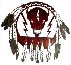 Material: American Steel Mounting Brackets: Included mounted hooks on back which cause the artwork to float off the wall by inches Usage: Southwestern Wall Decor, Southwestern Decorating, Metal Walls, Metal Wall Art, Dream Catcher Native American, Bull Skulls, Wall Art Decor, Art Pieces, Buffalo