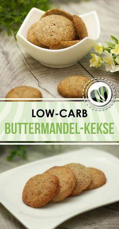 Die Buttermandel-Kekse sind low-carb und glutenfrei. Sie schmecken ausgezeichnet.