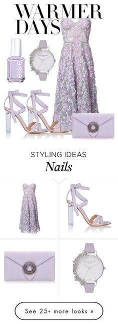 """""""Untitled #14"""" by hippie-dippie on Polyvore featuring Notte by Marchesa, Gianvito Rossi, Olivia Burton, Wilbur & Gussie and Essie"""