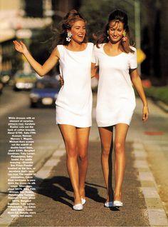 ☆ Elaine Irwin & Karen Mulder | Photography by Patrick Demarchelier | For Vogue Magazine US | February 1991 ☆ #Elaine_Irwin #Karen_Mulder #Patrick_Demarchelier #Vogue #1991