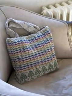 Ravelry: Tree And Ripple Bag pattern by Martin Storey