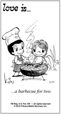 love is... a barbeque for two...