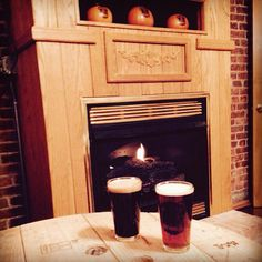The fire is going and the brews are TASTY...come by to warm up! We are here from 1pm to 10pm today :)