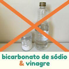 Produtos de limpeza que você não deve misturar - Bicarbonato de Sódio e Vinagre