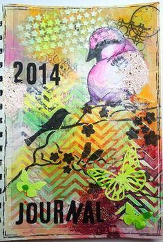 Susanne Rose - Papierkleckse: Mein erstes Art Journal! #mixedmedia #gelatos #artjournal #bird