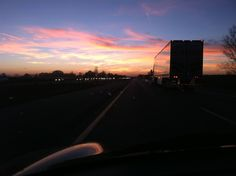 Sunset Reflections - driving west from MI to IL | photo by Allison Lerner