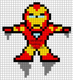 Minecraft Pixel Art Templates: Iron Man