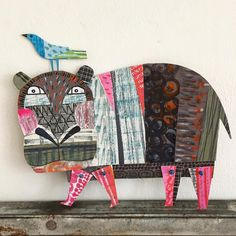 Hippo for the #100dayproject ! #100daysofcardboardcollage #papercraft #paperartist #paperart #becreative #arteveryday #